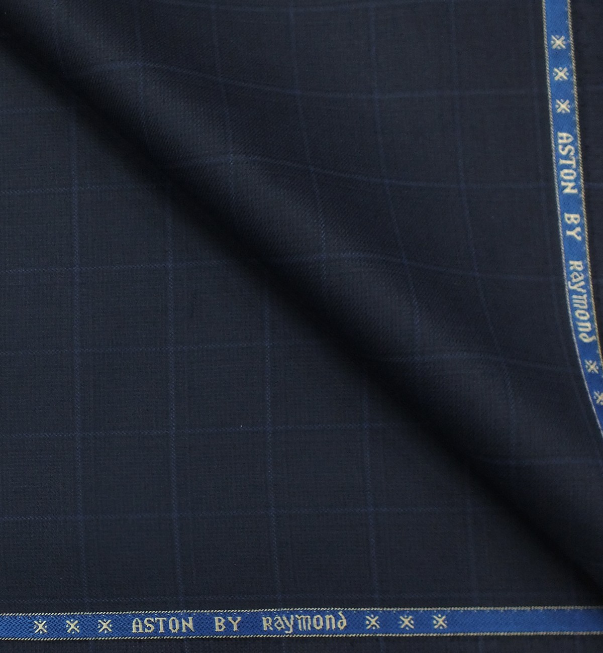 fbf45a92b Raymond Royal Blue Broad Check Unstitched Trouser Fabric