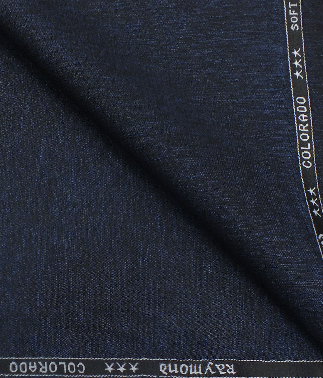 5fcb92859 Raymond Royal Blue Self Design Polyester Viscose Trouser Fabric (Unstitched  ...