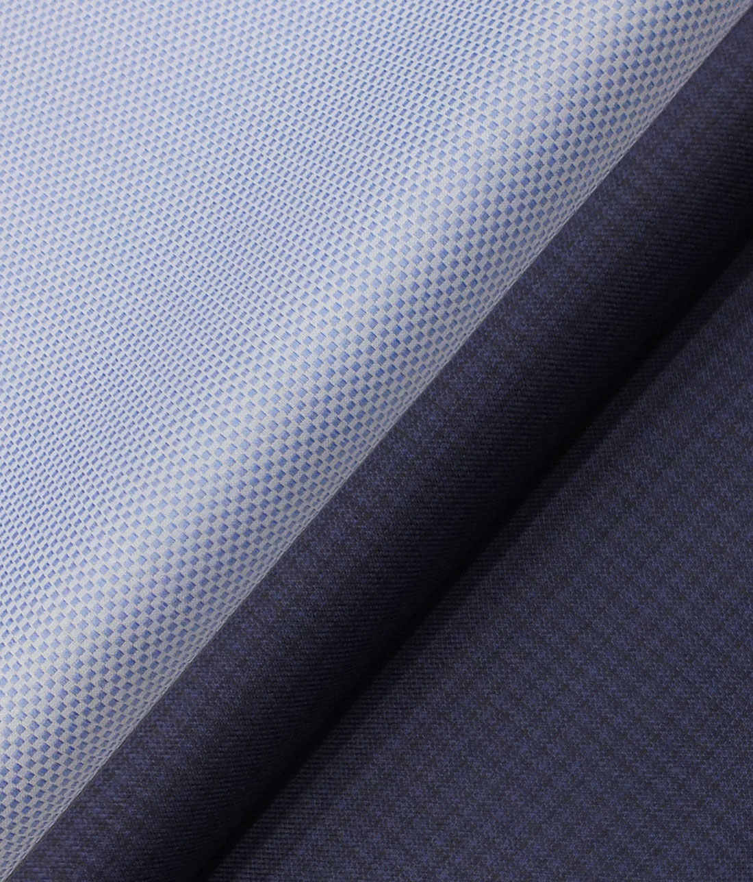 6424ce082f6 Raymond Dark Royal Blue Self Design Trouser Fabric With Exquisite Light  Blue Structured Shirt Fabric (Unstitched)