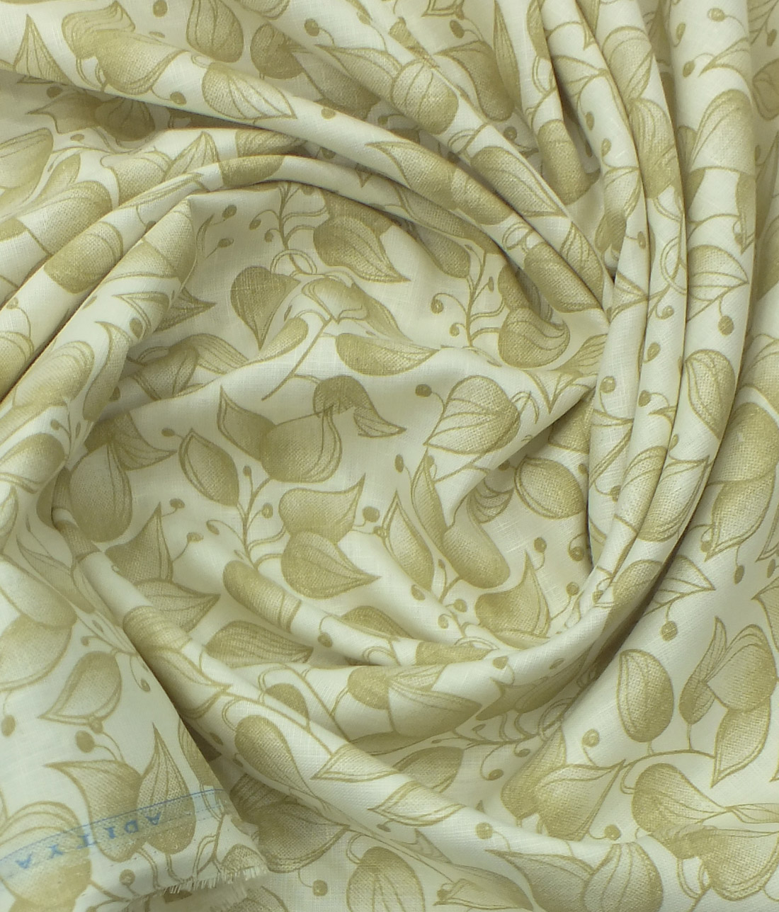 Beige And Coffee Plaid Print Linen Contemporary Bedroom: Linen Club Cream 65% Linen 35% Cotton Beige Floral Print