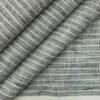 Grado by Grasim Men's Grey Cotton Blend Khadi Look White Stripes Shirt Fabric (1.60 M)