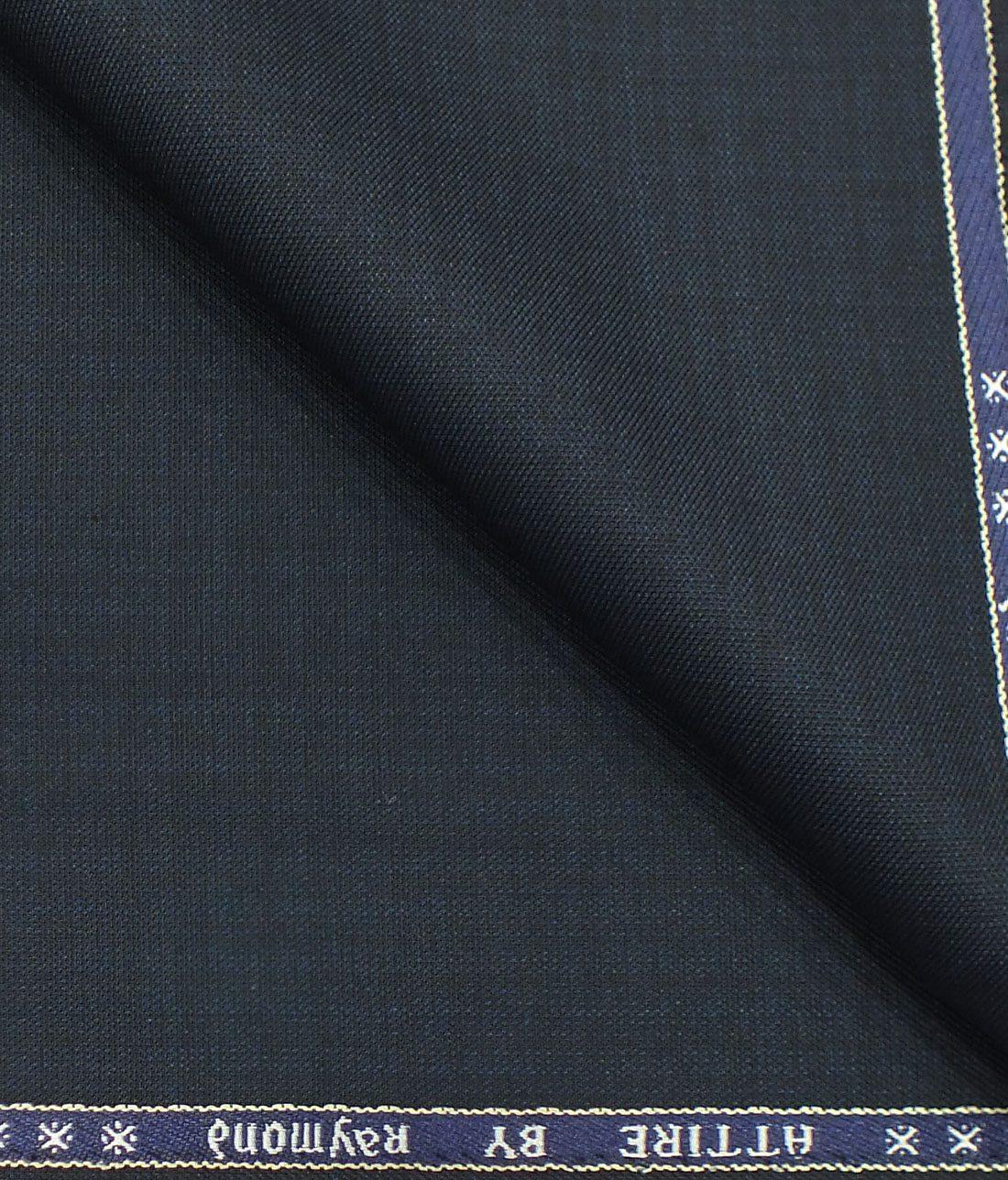 4062989c8 Raymond Men s Dark Blue Self Design Poly Viscose Trouser Fabric or 3 Piece  Suit Fabric (Unstitched – 1.25 Mtr)