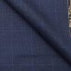 Reid & Taylor Men's Dark Denim Blue Checks Poly Viscose Trouser Fabric or 3 Piece Suit Fabric (Unstitched – 1.25 Mtr)