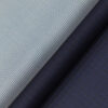 Reid & Taylor Dark Blue Checks Trouser Fabric With Nemesis White & Blue Structured Shirt Fabric (Unstitched)