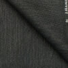 J.Hampstead by Siyaram's Black Jute Weave Structured Poly Viscose Shiny Party Wear Trouser or 3 Piece Suit Fabric (Unstitched - 1.25 Mtr)