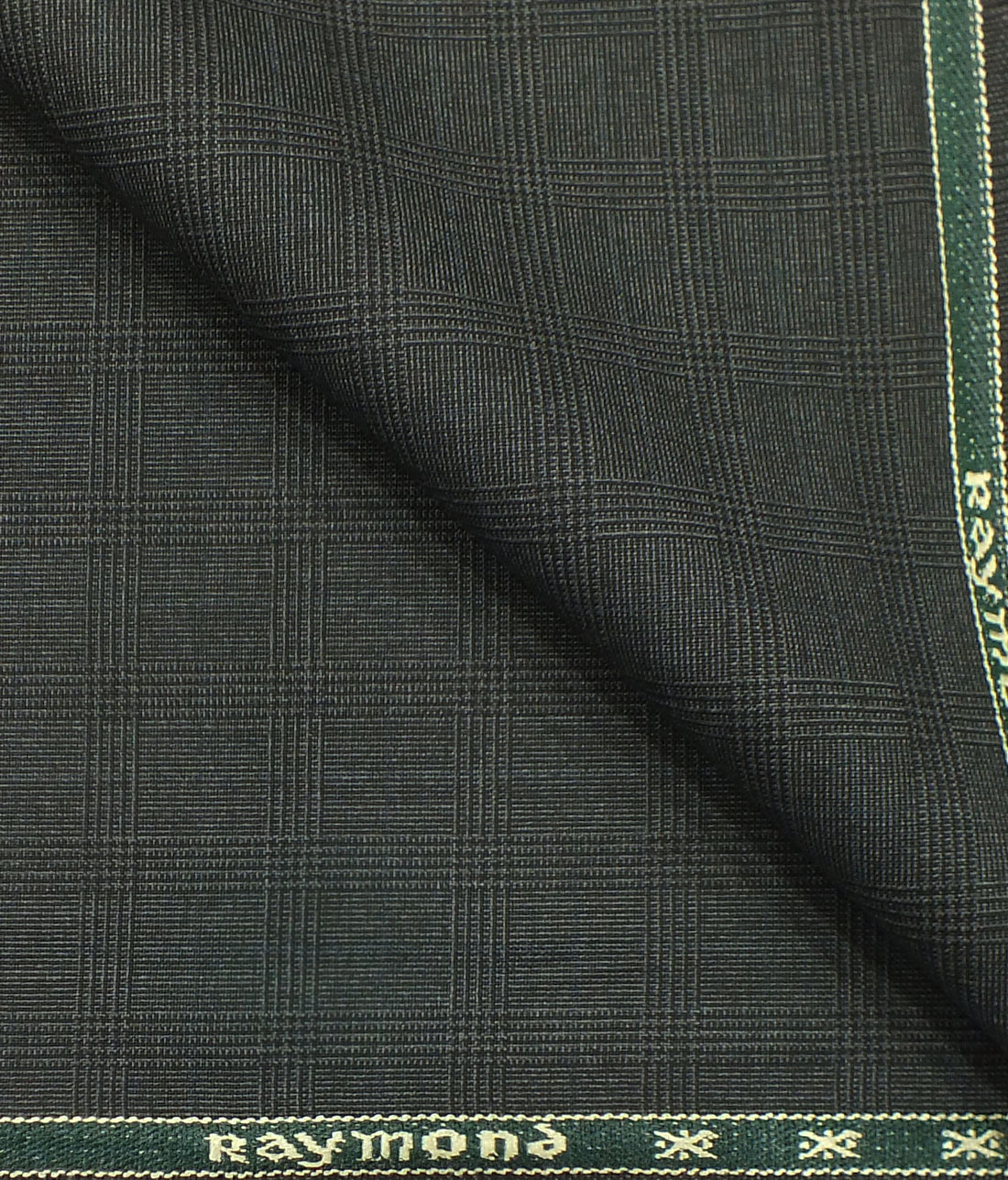 145e3349c Raymond Dark Grey Self Broad Checks Poly Viscose Trouser or 3 Piece Suit  Fabric (Unstitched - 1.25 Mtr)