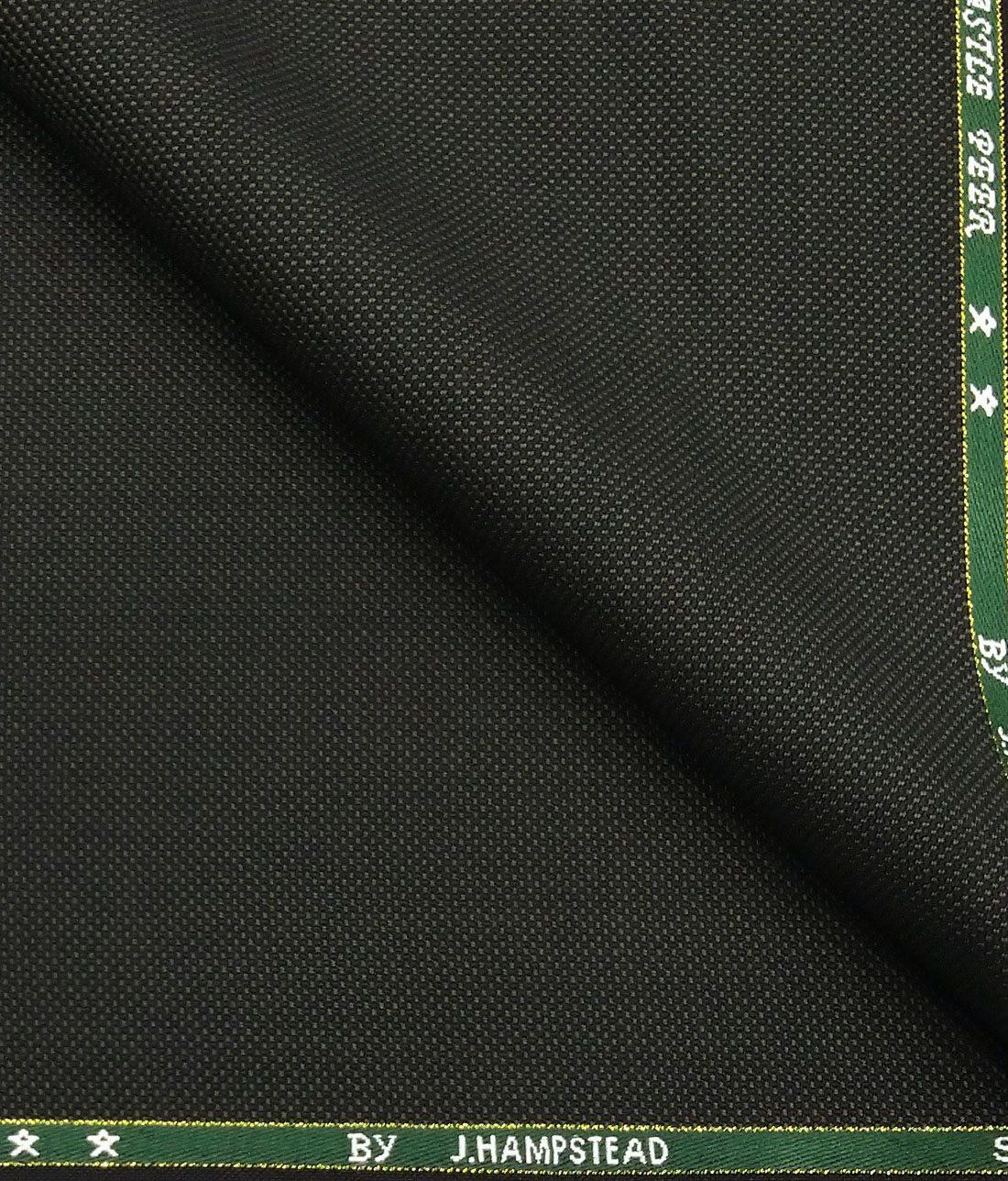 0279d83b0 J.Hampstead by Siyaram s Dark Green Structured Super 90 s 35% Merino Wool  Unstitched Fabric · Blazer or Suit