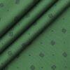 Monza Moss Green 100% Premium Cotton Blue Print Shirt Fabric (1.60 M)