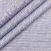 Monza White & Blue 100% Premium Cotton Structured Shirt Fabric (1.60 M)