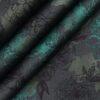Nemesis Black & Green 100% Egyptian Giza Cotton Floral Printed Shirt Fabric (1.60 M)