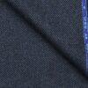 OCM Dark Blue Structured 100% Pure Merino Wool Tweed Jacketing & Blazer Fabric (Unstitched - 2 Mtr)