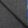 OCM Dark Grey Structured 100% Pure Merino Wool Tweed Jacketing & Blazer Fabric (Unstitched - 2 Mtr)