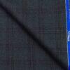 OCM Dark Seagreen & Black Checks 100% Pure Merino Wool Thick Tweed Jacketing & Blazer Fabric (Unstitched - 2 Mtr)