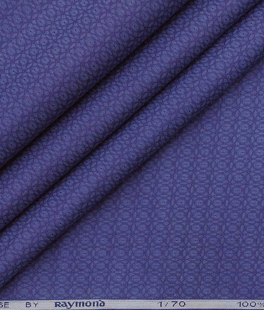 cc275d87f828 Raymond Dark Royal Blue 100% Giza Cotton Structured Shirt Fabric (1.60 M)