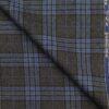 Raymond Grey & Firozi Blue Checks 100% Pure Wool Thick Tweed Jacketing & Blazer Fabric (Unstitched - 2.20 Mtr)