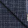 Raymond Greyish Blue Checks 100% Pure Wool Thick Tweed Jacketing & Blazer Fabric (Unstitched - 2.20 Mtr)