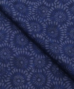 e57c0e129f Absoluto Dark Blue Floral Printed Unstitched Terry Rayon Bandhgala or  Blazer Fabric ...