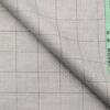 Grado by Grasim Light Grey Polyester Viscose Structured Cum Checks Unstitched Suiting Fabric