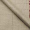 Grado by Grasim Oat Beige Polyester Viscose Structured Cum Checks Unstitched Suiting Fabric