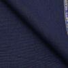 Grado by Grasim Dark Royal Blue Polyester Viscose Self Checks Unstitched Suiting Fabric