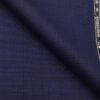 Raymond Dark Denim Blue Polyester Viscose Black Checks Unstitched Suiting Fabric
