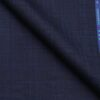 Reid & Taylor Dark Royal Blue Polyester Viscose Self Checks Unstitched Suiting Fabric