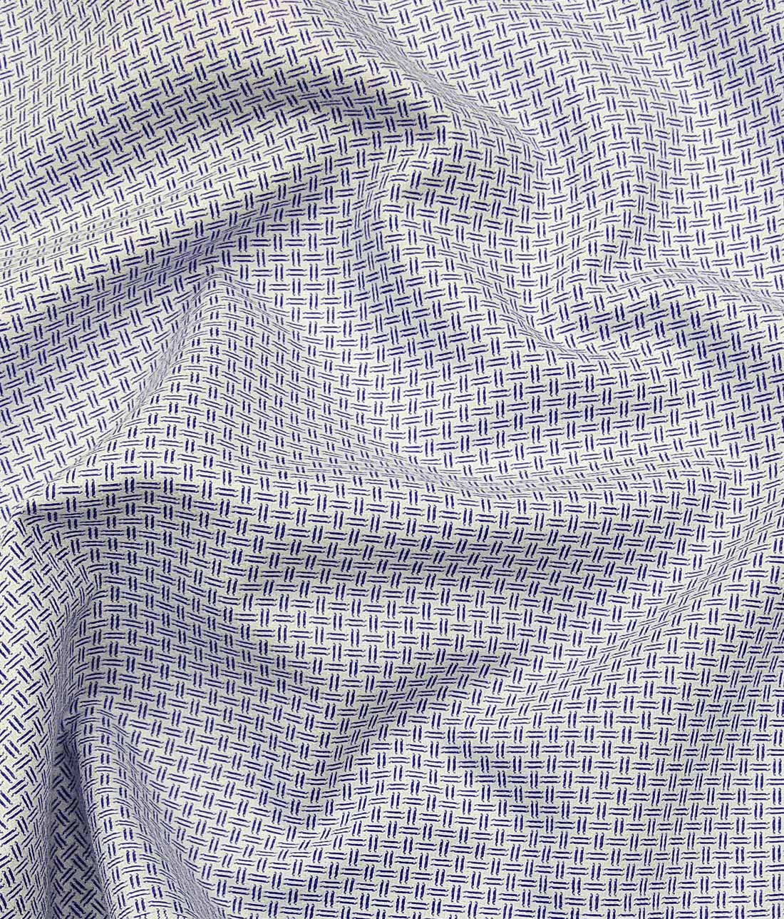 ed9c78cfe Combo of Raymond Dark Blue Broad Checks Trouser Fabric With Exquisite White  Cotton Blend Structured Shirt ...
