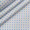 Raymond Men's White 100% Premium Cotton Blue Printed Shirting Fabric