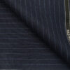 Raymond Dark Blue Polyester Viscose Sky Blue Pin Stripes Unstitched Suiting Fabric - 3.75 Meter