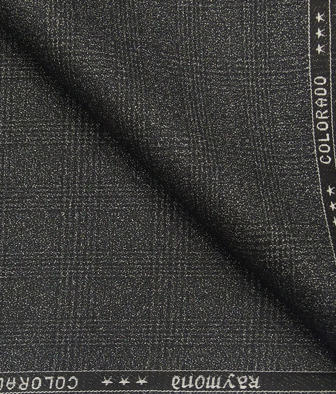 bcadd1eec Raymond Grey Polyester Viscose Broad Self Checks Unstitched Suiting Fabric  - 3.75 Meter