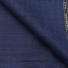 Raymond Royal Blue Polyester Viscose Self Black Checks Unstitched Suiting Fabric - 3.75 Meter