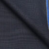 Raymond Dark Blue Polyester Viscose Self Structured Unstitched Suiting Fabric - 3.75 Meter