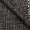Raymond Grey Polyester Viscose Self Checks Unstitched Suiting Fabric - 3.75 Meter