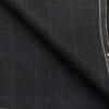 Raymond Dark Blueish Grey Polyester Viscose Checks Unstitched Suiting Fabric - 3.75 Meter