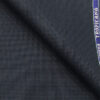Raymond Dark Blue Polyester Viscose Houndstooth Strcuture Unstitched Suiting Fabric - 3.75 Meter