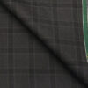 Raymond Dark Grey Polyester Viscose Broad Checks Unstitched Suiting Fabric - 3.75 Meter