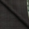 Raymond Black Polyester Viscose Self Grey Checks Unstitched Suiting Fabric - 3.75 Meter