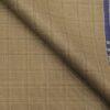 Raymond Hazelnut Beige Polyester Viscose Broad Self Checks Unstitched Suiting Fabric - 3.75 Meter