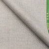 Raymond Light Grey Polyester Viscose Self Checks Unstitched Suiting Fabric - 3.75 Meter
