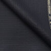 Raymond Dark Navy Blue Polyester Viscose Self Striped Unstitched Suiting Fabric - 3.75 Meter