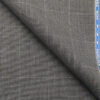 Raymond Techni Stretch Medium Grey Polyester Viscose Self Checks Unstitched Stretchable Suiting Fabric - 3.75 Meter