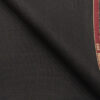 Raymond Dark Winish Brown Polyester Viscose Self Checks Unstitched Suiting Fabric - 3.75 Meter