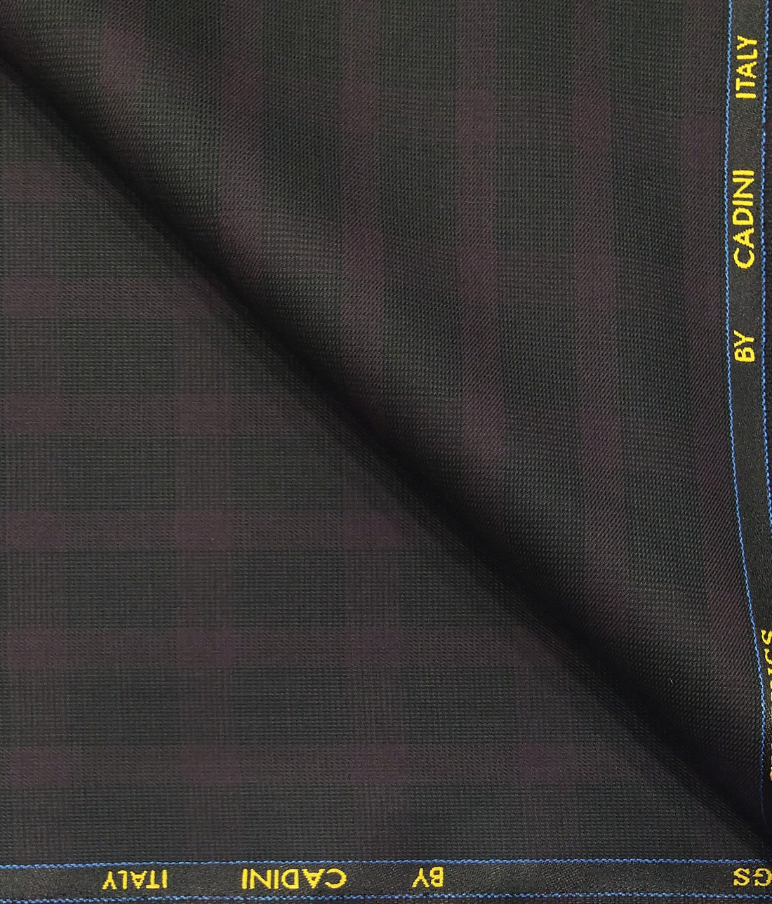 2be0774e8aa Cadini Italy Men's by Siyaram's Blackish Grey Terry Rayon Maroon Checks  Unstitched Suiting Fabric - 3.75