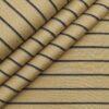 Monza Men's 100% Luxury Cotton Black Striped Unstitched Shirt Fabric (Hazelnut Beige