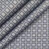 Raymond Men's 100% Giza Cotton 2 Ply Super 100's Grey Squares Dobby Unstitched Shirt Fabric (Light Grey)
