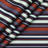 PEE GEE Men's 100% Cotton Blue & Red Digital Printed Stripes Unstitched Shirt Fabric (White