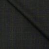 OCM Men's Wool Green Checks 2 Meter Unstitched Tweed Jacketing & Blazer Fabric (Dark Blue)