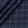 Monza Men's Cotton Checks 1.60 Meter Unstitched Shirt Fabric (Dark Blue)