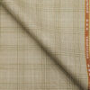 Raymond Men's Poly Viscose Unstitched Checks Suiting Fabric (Beige)