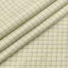 Arvind Men's Cotton Checks 1.60 Meter Unstitched Shirt Fabric (Cream)